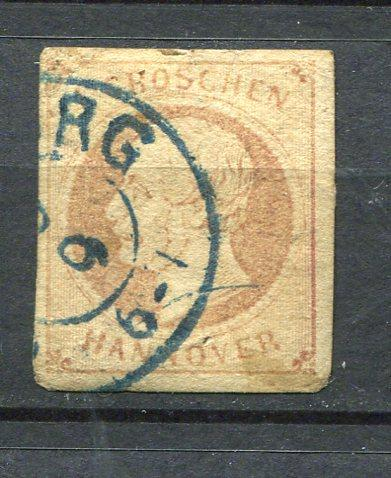 Germany 1861 Mi 19 Used Hanover 3698
