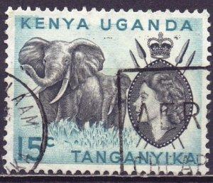 Tanganyika. 1954. 94. Elephant fauna. USED.