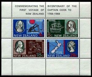 HERRICKSTAMP NEW ZEALAND Sc.# 434A Capt. Cook S/S Mint NH Cat. Value $18.00