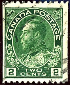 Canada #107 USED TRIMMED PERFS