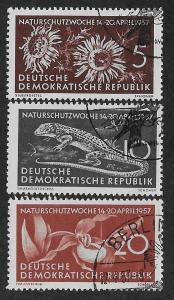 GERMANY - DDR SC# 325-27  FVF/CTO 1957