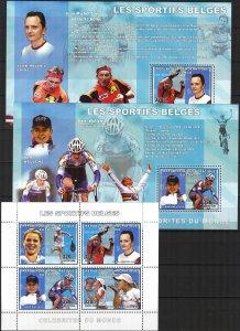 Congo 2006 Famous Belgian Sportsmen's Cycling Table Tennis sheet+ 4 S/S ...