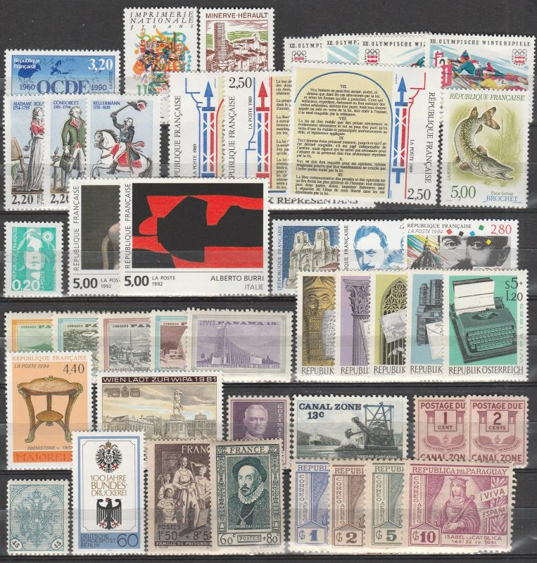Worldwide Lot-  Mint Never Hinged (A4449)