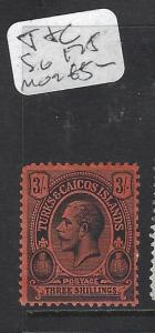 TURKS AND CAICOS IS (P1909B) KGV 3/-  SG 175   MOG