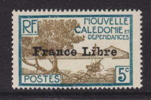 New Caledonia Sc 221 MLH. 1941 5c Bay, VLH & F-VF