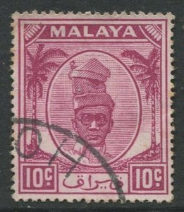 STAMP STATION PERTH Perak #111 Sultan Yussuf Izuddin Shah Used 1950