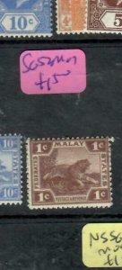 MALAYA FMS (P1912B) 1922 TIGER 1C SG  52   MOG
