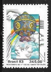 1983    BRAZIL  -  SG.  2058  -  BICENTENARY OF MANNED FLIGHT  -  MNH