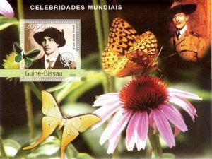Guinea-Bissau MNH S/S Butterflies & Baden Powell 2003