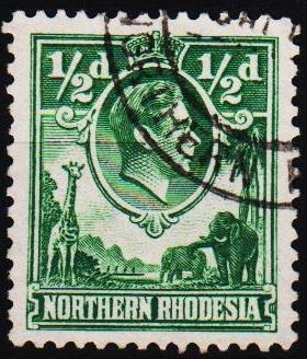 Northern Rhodesia. 1938 1/2d S.G.25 Fine Used