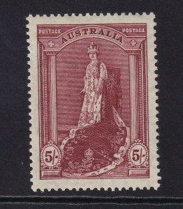 AUSTRALIA 1938 5s Robes Thin Paper MUH