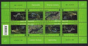 Estonia WWF Newt Protected Species 4v Sheetlet SG#628-31