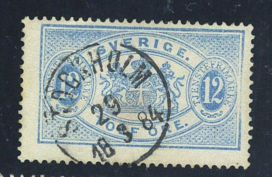 Sweden #O18 Used F-VF Cat$57.50