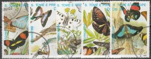 St Thomas & Prince Is #898-902 F-VF Used CV $11.25  (S9467)
