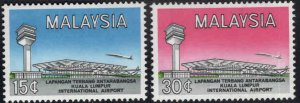 Malaysia Scott 18-19 Mint Hinged MH* KL Airport set