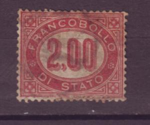 J21503 Jlstamps 1875 italy used #o6 official