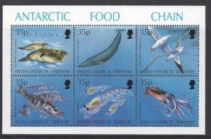 1994 BRITISH ANTARTIC TERRITORY - SG:250/5 - ANTARTIC FOOD CHAIN  UNMOUNTED MINT