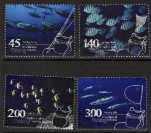 TOKELAU ISLANDS SG482/5 2015 TRADITIONAL FISHING FINE USED