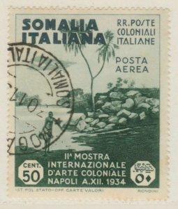 Somalia Arte Coloniale 1938 50c Usato Italia Colonie Italy Colony A18P14F202