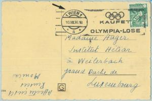 68110 - AUSTRIA -  POSTAL HISTORY - Postcard  1936  Olympic postmark: Wien 1