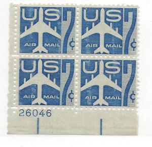 United States, C51, Jet Silhouette Airmail Plt.Blk(4), MNH