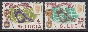 St Lucia 207-8 World Cup mnh