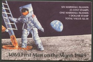 MARSHALL IS. Sc#238a 1989 Apollo 11 20th Anniversary Complete Booklet Mint OG NH
