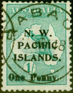 New Guinea 1918 1d on 1s Green SG101 V.F.U