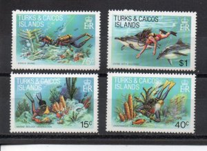 Turks and Caicos 491-494 MNH