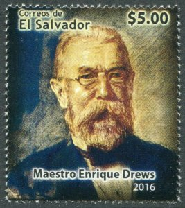 HERRICKSTAMP NEW ISSUES SALVADOR Sc.# 1759 Enrique Drews