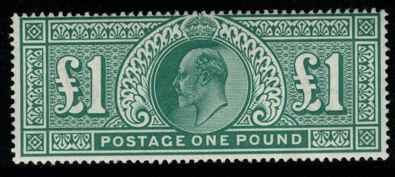 GB SG266 1902 £1 DULL BLUE-GREEN MTD MINT