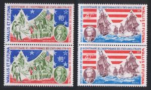 Wallis and Futuna Bicentenary of American Revolution 2v in pairs SG#254-255
