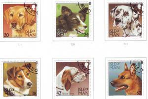 Isle of Man Sc 716-21 1996 Dogs stamp set used