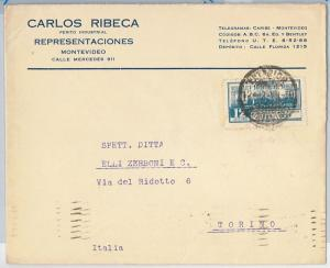 URUGUAY  -  POSTAL HISTORY -  COVER to ITALY 1939