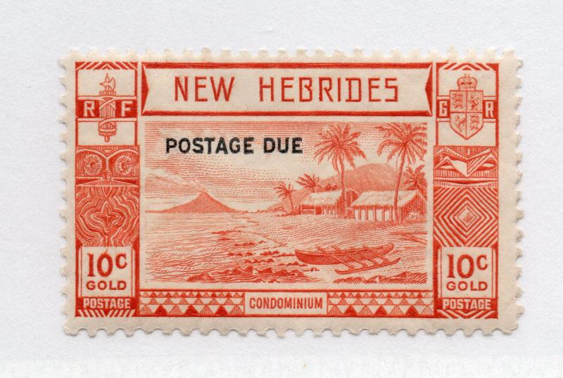 British New Hebrides - SG# D7 MLH  /  Lot 0119058