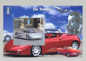 Sao Tome and Principe 2005  De Tomaso/Maserati/Concorde SS Perf.MNH VF
