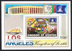 Lesotho Olympic Games Los Angeles MS SG#MS595 SC#444