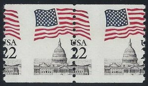 2115 Misperf Error / EFO Flag Over Capitol Mint NH