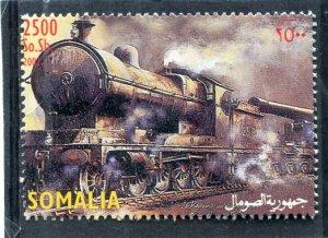 Somalia 2002 STEAM TRAINS LOCOMOTIVES 1 value Perforated Mint (NH)