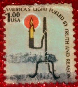 USA   1610 – 1979 $1 Americana Series - Rush Lamp used XF