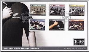 NEW ZEALAND 2003 100 Years NZ Test Rugby : All Blacks FDC...................8397