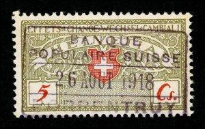 SWITZERLAND WECHSEL CAMBIALI BILL OF EXCHANGE REVENUE PORRENTRUY HANDSTAMP 1918