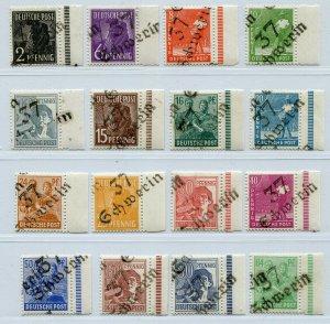 GERMANY SOVIET ZONE HOP BEZIRKSHANDSTEMPEL BEZIRK 37 166-181 VIII PERFECT NH 124
