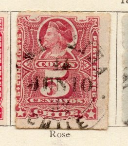 Chile 1881 Early Issue Fine Used 5c. NW-11401
