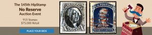 The 145th HipStamp No Reserve Auction Event