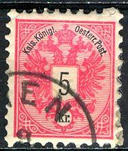 Austria; 1883: Sc. # 43: O/Used Single Stamp