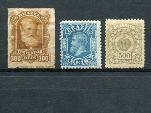 Brazil  3 stamps with O.G.  all have tiny thin spots  - Lakeshore Philatelics