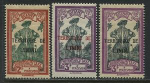Territoire L'Inini overprinted on 1929 French Guiana Postage Dues mint o.g.