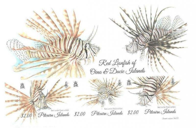 2015    PITCAIRN ISLAND -  SG.  MS 924  - RED LIONFISH   -  MNH