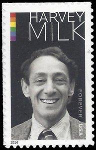 #4906 (49c Forever) Harvey Milk 2014 Mint NH
